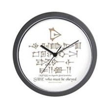 She Who Must Be Obeyed Wall Clock