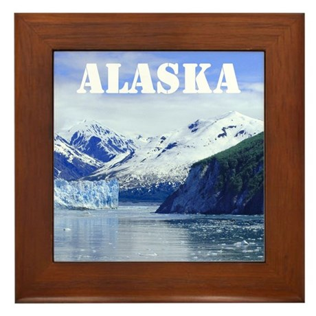 Beautiful State of ALASKA souvenir Framed Tile