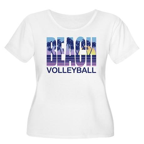 Beach Volleyb Women's Plus Size Scoop Neck T-Shirt