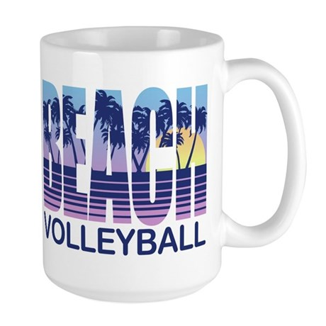 Beach Volleyball Large Mug