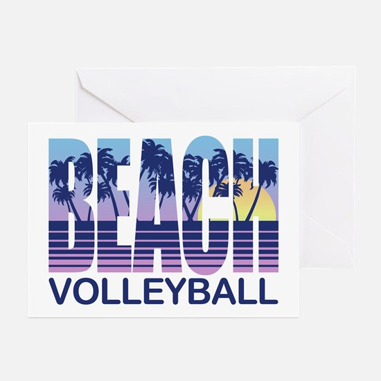 Beach Volleyball Greeting Cards (Pk of 10)