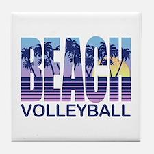Beach Volleyball Tile Coaster