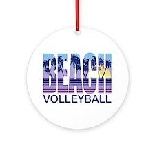 Beach Volleyball Ornament (Round)