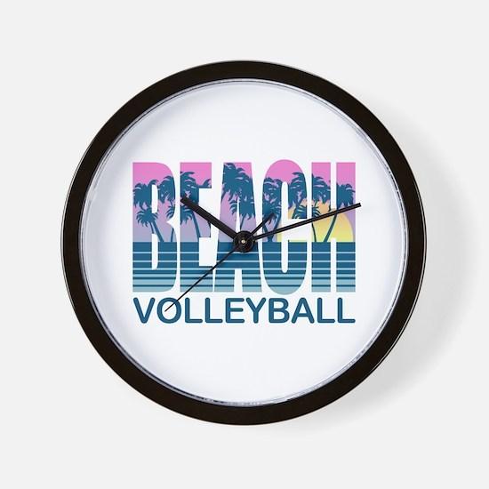 Beach Volleyball Wall Clock