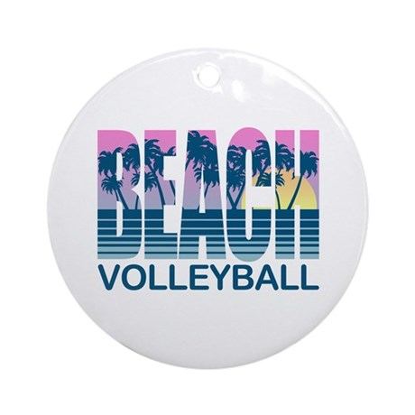 Beach Volleyball Ornament (Round)