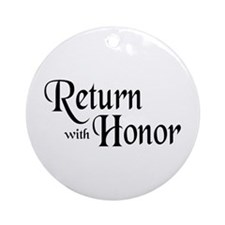 Return With Honor Ornament (Round)