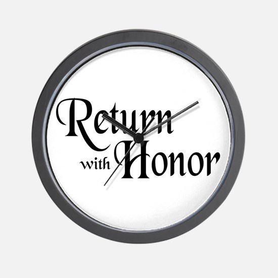Return With Honor Wall Clock