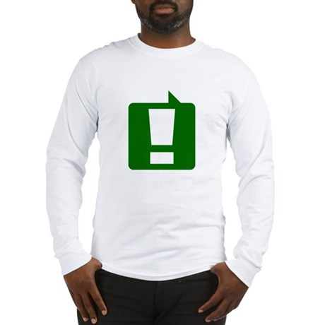 Exclamation (Green) Long Sleeve T-Shirt