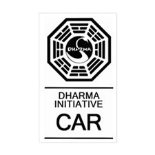 Dharma Initiative Car Sticker (Rectangle)