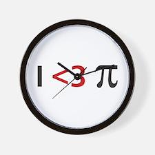 I <3 pi Wall Clock