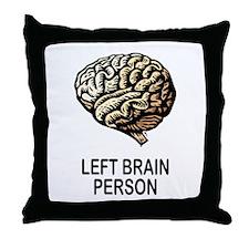 LEFT BRAIN Throw Pillow