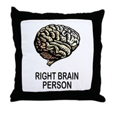 RIGHT BRAIN Throw Pillow