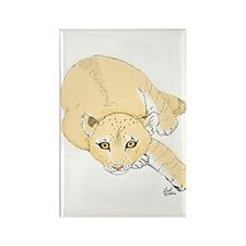 Lion Cub Rectangle Magnet