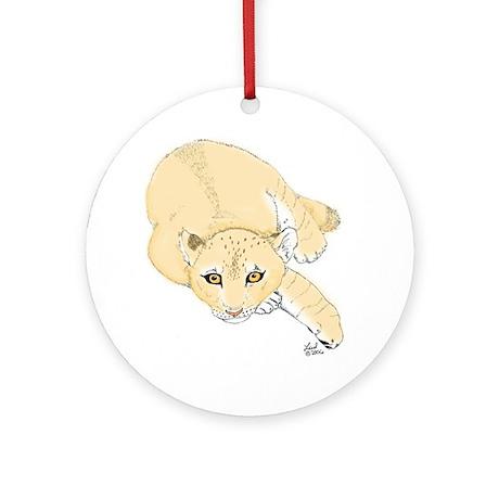 Lion Cub Ornament (Round)