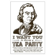Sam Adams Tea Party Large Poster