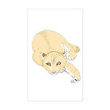 Lion Cub Rectangle Decal
