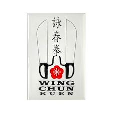 Wing Chun Kuen Rectangle Magnet