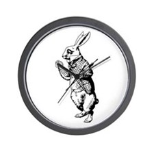White Rabbit Wall Clock