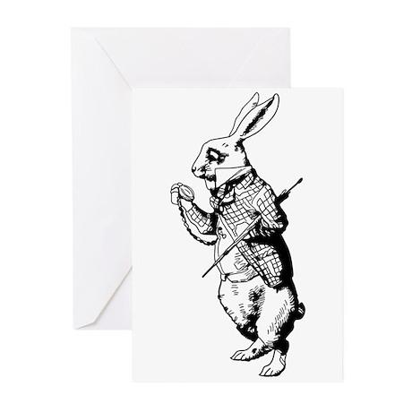 White Rabbit Greeting Cards (Pk of 10)