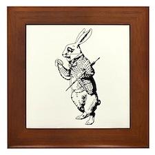 White Rabbit Framed Tile