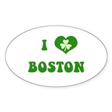 I Love Boston Decal