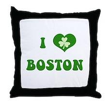 I Love Boston Throw Pillow