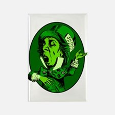 Mad Hatter Oval in Green Rectangle Magnet