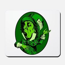 Mad Hatter Oval in Green Mousepad