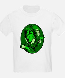 Mad Hatter Oval in Green T-Shirt
