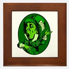 Mad Hatter Oval in Green Framed Tile