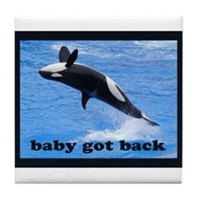 Funny Save whales Tile Coaster