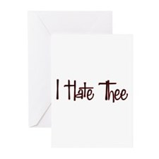 I Hate Thee Greeting Cards (Pk of 10)