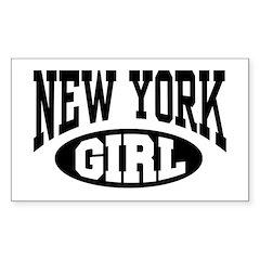 New York Girl Rectangle Decal