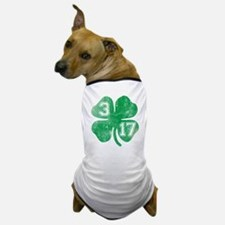 St Patricks Day 3/17 Shamrock Dog T-Shirt