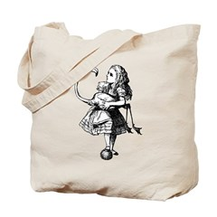 Alice and Flamingo Tote Bag