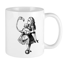 Alice and Flamingo Mug