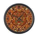 Ancient Aztec Calendar Large Wall Clock