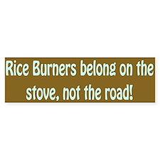 """""""Rice Burners"""" Bumper Bumper Sticker"""