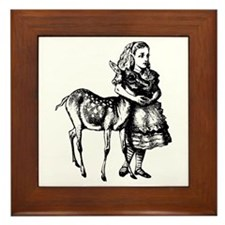 Alice and Fawn Framed Tile
