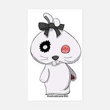 Beanbag Bunny Sticker (Rectangular)