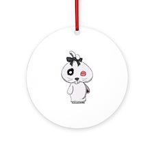 Beanbag Bunny Ornament (Round)