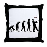 Evolution of The Zombie Throw Pillow