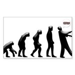 Evolution of The Zombie Sticker (Rectangle)