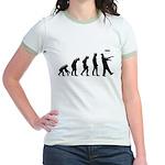 Evolution of The Zombie Jr. Ringer T-Shirt