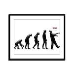 Evolution of The Zombie Framed Panel Print