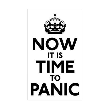 Time To Panic Sticker (Rectangle)