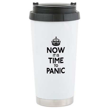 Time To Panic Stainless Steel Travel Mug