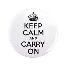 "Keep Calm & Carry On 3.5"" Button"