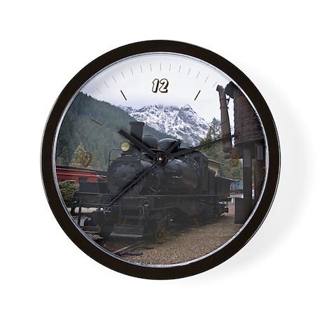 Shay Locomotive & Tower Wall Clock