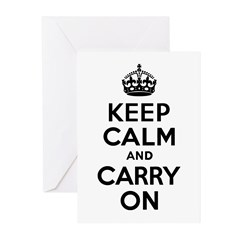 Keep Calm & Carry On Greeting Cards (Pk of 20)